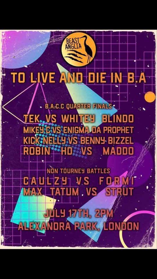 Beast Anglia Entertainment – Saturday 17th July 2021